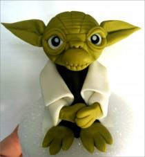 "wedding photo - Yoda Fondant Cake Topper. READY To SHIP TODAY (Business days). ""We do custom orders"""