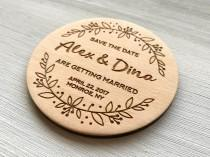 wedding photo - Save the Date Wedding Save the Date Magnets Wedding Announcement Engraved Save the Date Wood Personalized Magnets Wedding Favors Invintation