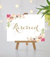 wedding photo - Reserved Sign