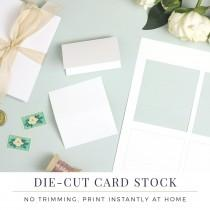 wedding photo - Everly Place Card Paper, Die Cut Card Stock, Perforated Die Cut for Wedding Escort Cards No Trim