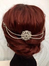 wedding photo - Wedding hair chain - 1920s Wedding - Hair Jewelry- Hair Accessories - Bridal hair - Bo ho Head chain - Wedding Accessories - Celtic Celtica