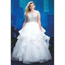 wedding photo - Style W393 by Allure Women - Ivory  White Organza  Satin High Back Floor High  Illusion Ballgown Wedding Dresses - Top Design Dress Online Shop