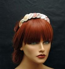wedding photo - Seashell Headband, Beach Wedding Headpiece, OOAK, Mermaid Hair Accessory, Pearl Headband, Nautical Mermaid Headband - $37.00 USD