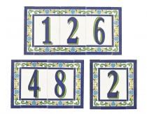 wedding photo - TILE HOUSE NUMBER - Custom Ceramic Set Home Sign Address Spanish Traditional Personalized Enamel Plate Wall Plaque Made in Spain Letter Sign
