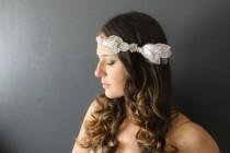wedding photo - Bridal Head Chain, Wedding Headband, Bridal Headband, Bohemain Bridal Headpiece, Bridal Halo, Bridal headpiece, Head Chain, Crystal headband
