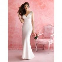 wedding photo - Allure Bridals 2814 Wedding Dress - Wedding V Neck Allure Bridals Long Sheath Dress - 2017 New Wedding Dresses