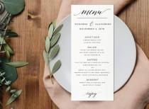 wedding photo - Instant Download Printable Menu-Editable PDF-DIY Menu Template-Digital Calligraphy Template-Printable Wedding Menu-#SN013_M