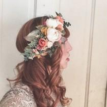 wedding photo - Rustic Flower Crown <<The Helena>> Bohemian Dried and Silk Crown // Custom Made Crown