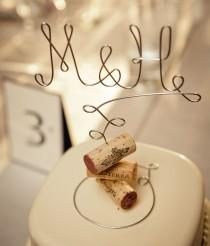 wedding photo - Vineyard INITIALS Wedding Cake Topper, Cake Topper for the Wine Lovers, Vineyard Wedding Cake Decoration, Rustic Wedding, Country Wedding