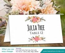 "wedding photo - DiY Printable Wedding Place Card Template - Instant Download - EDITABLE TEXT - Rustic Vintage Floral 3,5""x2"" - Microsoft® Word HBC4n"