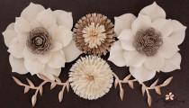 wedding photo - Paper Flower Backdrop, Large Paper Flowers, Wedding Centerpiece
