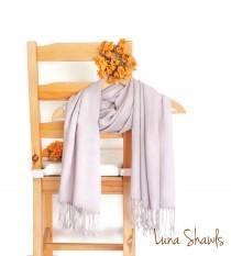 wedding photo - Taupe Shawl, Wedding Shawl, Solid Color Scarf, Light Tan Pashmina, Bridesmaid Shawl, Bridesmaid Gift, Tan Scarf