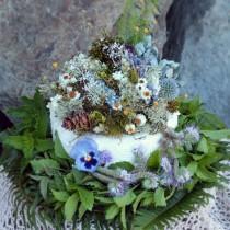 wedding photo - custom cake topper, moss cake topper, moss ring pillow, woodland cake topper, blue cake topper, lavender cake topper, woodland wedding cake