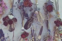 wedding photo - bud vase bouquet, bud vase arrangement, dried flowers wedding, wedding table decor, rustic wedding flowers, rustic centerpiece, strawflowers