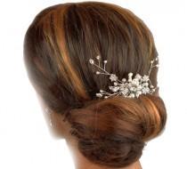 wedding photo - Pearl Wedding Hair comb,, Hair Ornament, Bridal Hair comb, Haircombs for brides, Crystal Hair comb