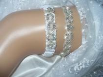 wedding photo - Wedding Garters Etsy, Wedding Garter Sets, Bridal Garters, Prom garters, Rhinestone Garters, Bling Garter, Heirloom Garter, Keepsake Garter