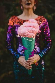 wedding photo - Cotton candy and LED outfits at this weird Austin wedding