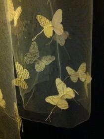 wedding photo - Eco Bridal Veil with butterflies