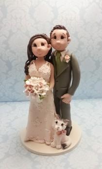 wedding photo - Custom wedding cake topper, personalized cake topper, Bride and groom cake topper, Mr and Mrs cake topper