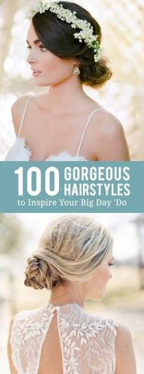 wedding photo - 100 Drop-Dead-Gorgeous Hairstyles To Inspire Your Big Day 'Do