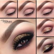 wedding photo - Gold Smokey Eye For All Eye Colors! Please Like And Follow