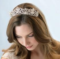wedding photo - Rhinestone Bridal Crown, Royal Crown, Princess Tiara, Silver Bridal Accessories, Royal Tiara, Princes Wedding Crown, Royal Bride ~TI-3173