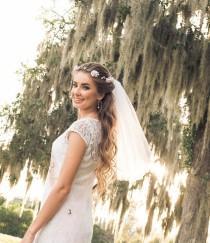 wedding photo - Boho Flower Crown Veil - Boho Bachelorette Veil - Boho Flower Headband - Bridal Crown - Bridal Flower Crown - Bachelorette Veil - Bride Gift