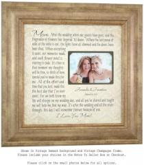 wedding photo - Wedding Picture Frame Mother of the Bride Gift, Parents Thank You Mom Wedding Frame, wedding cake topper, mr mrs wedding decoration, 16 X 16