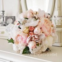 wedding photo - Silk bouquet / Bridal bouquet / Wedding bouquet / Alternative bouquet / Destination wedding / Artificial flowers / Peony bouquet / Adalyn BB