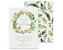 wedding photo - Wreath Wedding Invitation