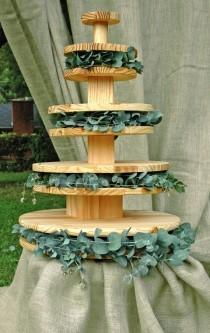 wedding photo - Donut Stand,Cupcake Stand,Nontraditional Wedding Cake,Donuts,Cupcakes,Fruit Pyramid,Donut Tree,Cupcake Tree,wedding Cake Stand