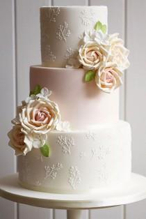 wedding photo - 24 Simple Romantic Wedding Cakes
