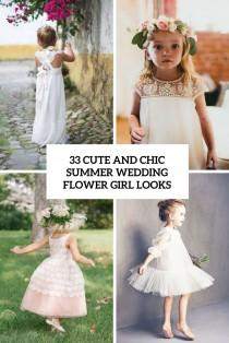 wedding photo - 33 Chic And Cute Summer Wedding Flower Girl Looks - Weddingomania