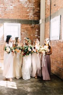 wedding photo - A Must-See Industrial Wedding With Gorgeous Florals
