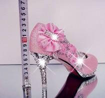 wedding photo - Wedding Shoes Rhinestone Glitter Shoes At Bling Bries Bouquet - Online Bridal Store
