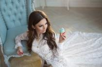 wedding photo - Tender Angel #10047 - premium peignoir from lace  (erotic lingerie,bridal and wedding lingerie, honeymoon, boudoir dress)