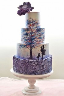 wedding photo - 27 Eye-Catching Unique Wedding Cakes