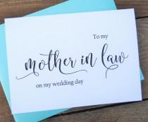 wedding photo - TO My MOTHER in LAW on my Wedding Day Card, Shimmer Envelope,To My Mother In Law Card, Mother in Law Card, Mother in Law Gift
