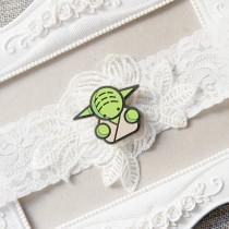 wedding photo - Star Wars Garter Bridal Garter Wedding Garter - Keepsake Garter Toss Garter Lace Garter Geek Nerd Garter Belt