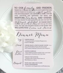 wedding photo - PRINTED Reception Thank You Menu Combination - Style MTY17 - BOMBSHELL COLLECTION