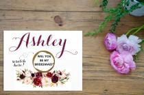 wedding photo - Scratch Off Bronze PERSONALIZED Will you be my Maid of Honor Card- Maid of Honor, Matron of Honor, Bridesmaid Ask Card w/ Metallic Envelope