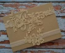 wedding photo - Champagne / Light Gold Wedding Garter Set, Lace Garter Set, Champagne Lace Bridal Garter Belt, Light Gold Bridal Garter Set, CG9