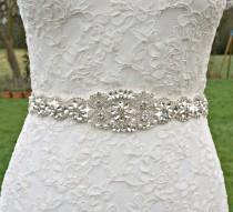 wedding photo - Bridal sash, bridal belt, sash belt, rhinestone sash, pearl crystal sash, wedding dress belt, great gatsby wedding, wedding belt, dress sash