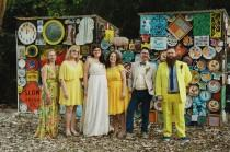 wedding photo - Colorful + Eclectic Wedding with Bright Yellow Accents