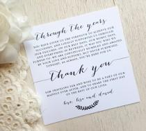 wedding photo - PRINTED Wedding Reception Thank You Card - Style TY98 - BOMBSHELL COLLECTION