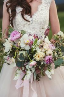 wedding photo - Dusty Blue and Blush Bridal Session - Belle The Magazine