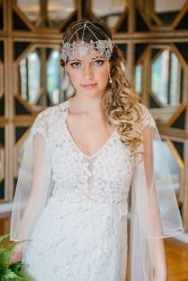 wedding photo - Boho Bride Bohemian Wedding Headpiece Bridal Head Chain Weddings Bridal Headpiece Hair Jewelry Head Chain Head Jewelry Chain - Crystal Gypsy