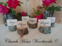 wedding photo - 30 rustic place card holders, tree card holders, place holders, rustic wedding decor, tree stump, rustic wood place card holder