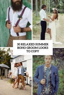 wedding photo - 30 Relaxed Summer Boho Groom Looks To Copy - Weddingomania