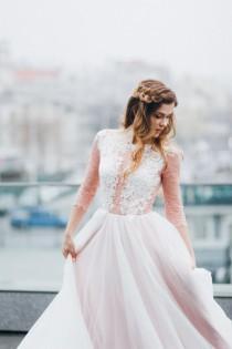 wedding photo - Blush wedding dress // Rosy Iris